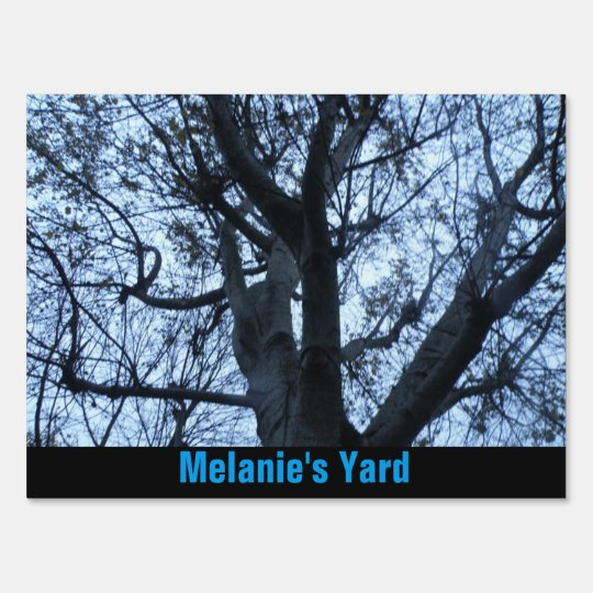 Tree Silhouette Photograph Custom Yard Sign