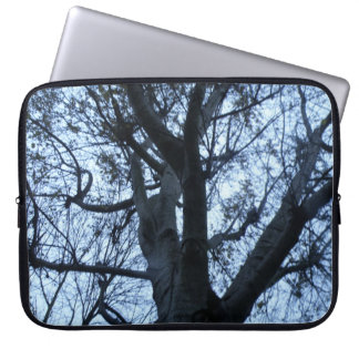 Tree Silhouette Photograph Laptop Sleeve