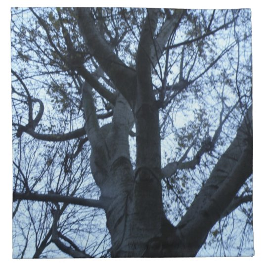 Tree Silhouette Photograph Napkin