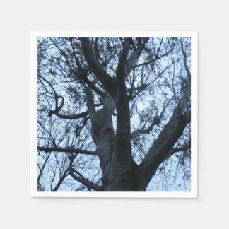 Tree Silhouette Photograph Napkins Disposable Napkin