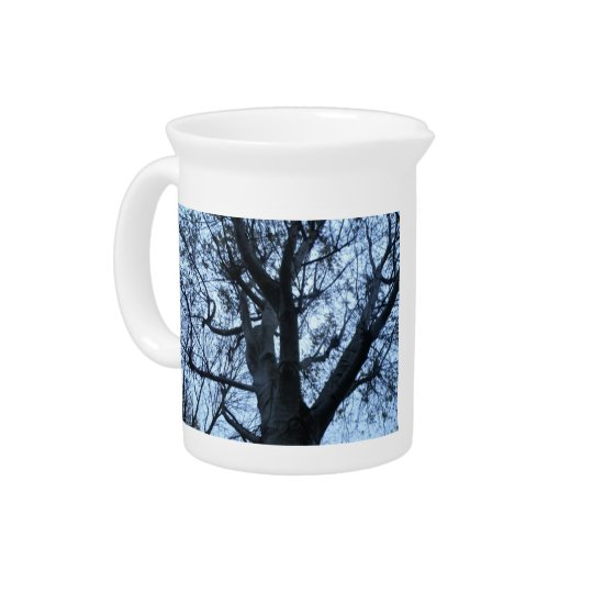 Tree Silhouette Photograph Pitcher
