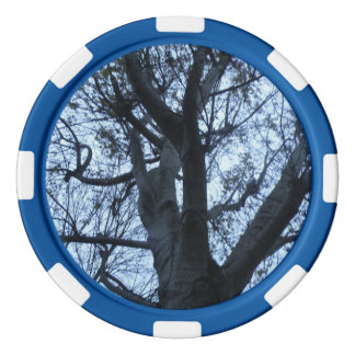 Tree Silhouette Photograph Poker Chip Set