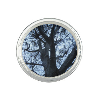 Tree Silhouette Photograph Ring