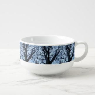 Tree Silhouette Photograph Soup Mug