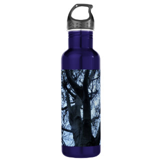 Tree Silhouette Photograph Water Bottle