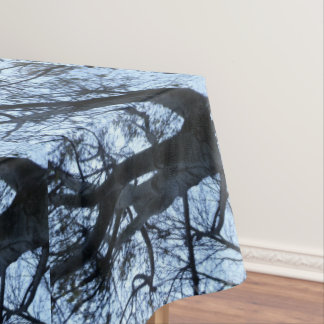 Tree Silhouette PhotographTablecloth Tablecloth