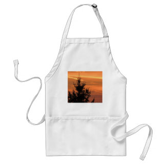 Tree silhouette with sunset standard apron