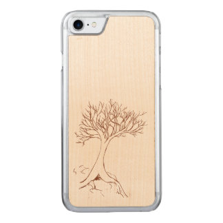 Tree sketch carved iPhone 8/7 case