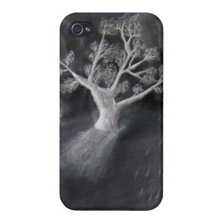 Tree Sketch Case For iPhone 4