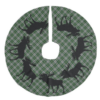 Tree skirt Christmas Cape Breton  tartan moose