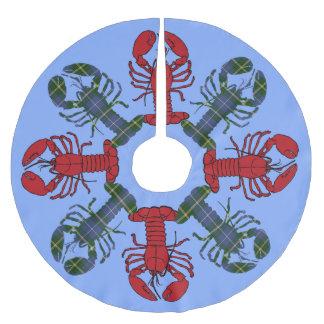 Tree skirt  Cute Beach Lobster Nautical Tartan
