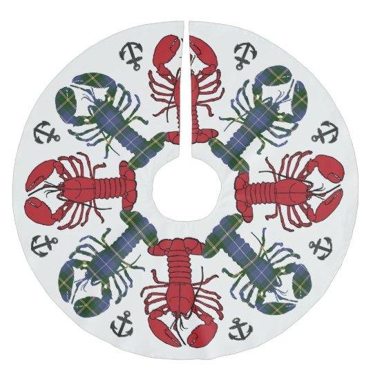 Tree skirt Lobster Snowflake Anchor N.S. Christmas Brushed Polyester Tree Skirt