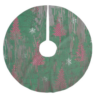 tree skirt rustic christmas tree holiday brushed polyester tree skirt