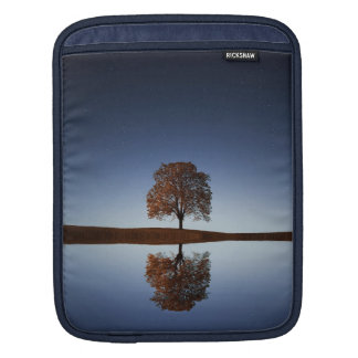 Tree & Sky Reflection In Lake, iPad Mini Sleeve