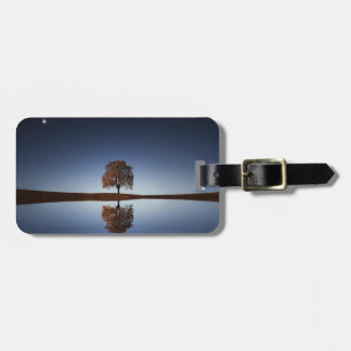 Tree Sky Reflection Relaxing Scene, Luggage ID Tag