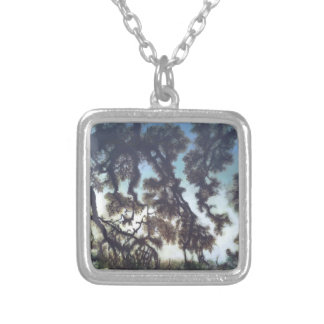 Tree & Sky square necklace