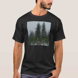 Tree Snowey Conifer Hill T-Shirt