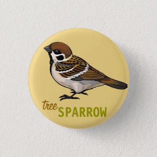 tree sparrow 1 inch round button
