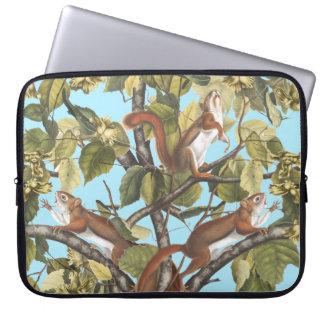 Tree Squirrels Animal Print Squirrel Pattern Print Laptop Sleeve