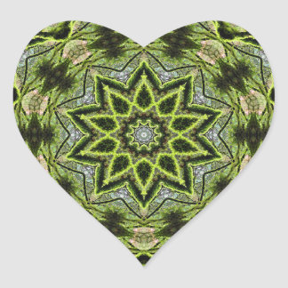 Tree Star Kaleidoscope Heart Sticker