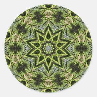 Tree Star Round Small, 1½ inch (sheet of 20) Classic Round Sticker