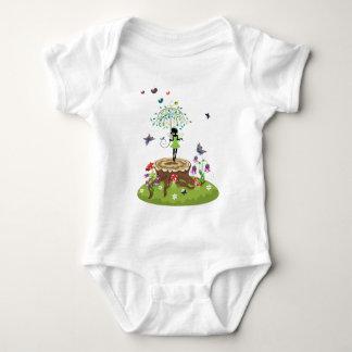 Tree Stump and Fairy 2 Baby Bodysuit