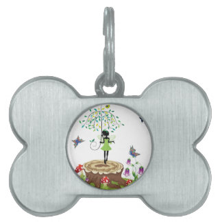 Tree Stump and Fairy 2 Pet Tags