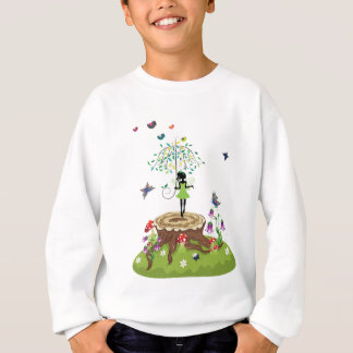 Tree Stump and Fairy 2 Sweatshirt