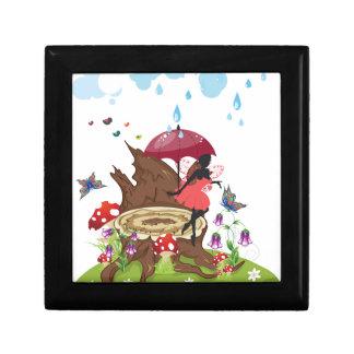 Tree Stump and Fairy Trinket Box