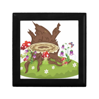 Tree Stump and Mushrooms Gift Box