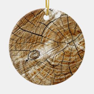 Tree Stump Ceramic Ornament