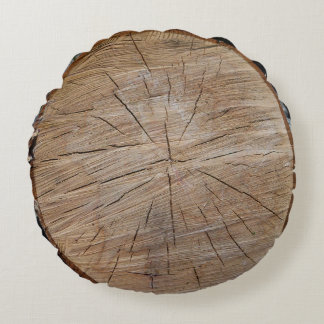 Tree Stump Round Pillow
