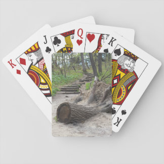 Tree Stump Trail Playing Cards