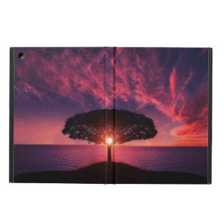 tree,sun and lake view iPad Air Case with No Kicks