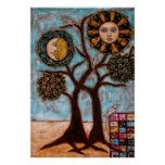 Tree, Sun and The Moon Poster