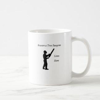 Tree Surgeon Arborist at work present Chainsaw Coffee Mug