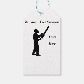 Tree Surgeon Arborist at work present Chainsaw Pack Of Gift Tags