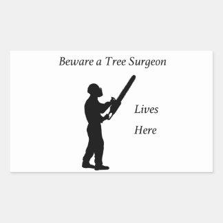 Tree Surgeon Arborist at work present Chainsaw Sticker
