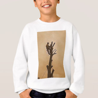 Tree Surgeon Arborist at work present Sweatshirt
