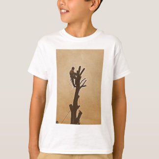 Tree Surgeon Arborist at work present T-Shirt