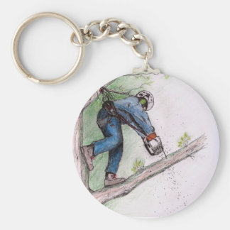Tree Surgeon Arborist Lumberjack Keychain