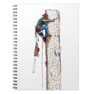 Tree Surgeon Arborist Stihl Spiral Notebook