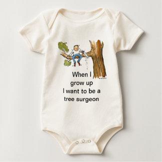 tree surgeon baby bodysuit