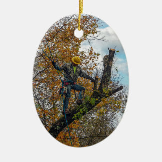 Tree Surgeon Ceramic Ornament