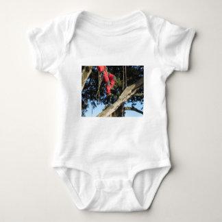 Tree surgeon lumberjack hanging from a big tree baby bodysuit