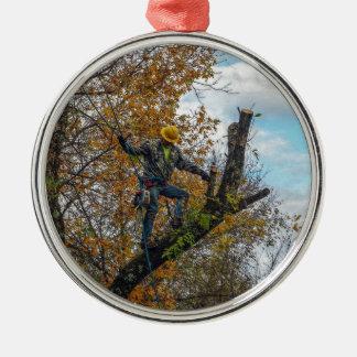 Tree Surgeon Metal Ornament