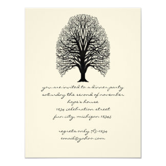 Tree Swirl Dinner Invitaions Card