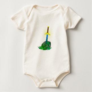 tree sword knife baby bodysuit