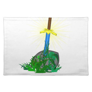 tree sword knife placemat