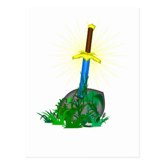tree sword knife postcard